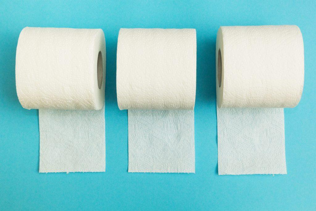 Toilet Paper Rolls. Bathroom hacks (stool, diarrhea) for IBD (inflammatory bowel disease), Crohns, ulcerative colitis.