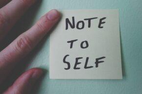 sticky note to self, reminder to remember immunomodulator meds